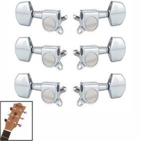 Jogo De Tarrachas Tarraxas Blindada Para Violão ou Guitarra 3x3