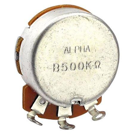 Potenciômetro Base Pequena Eixo Curto B500K Alpha