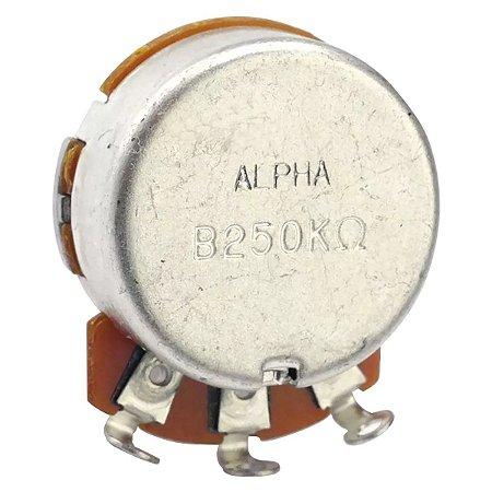 Potenciômetro Base Pequena Eixo Curto B250K Alpha