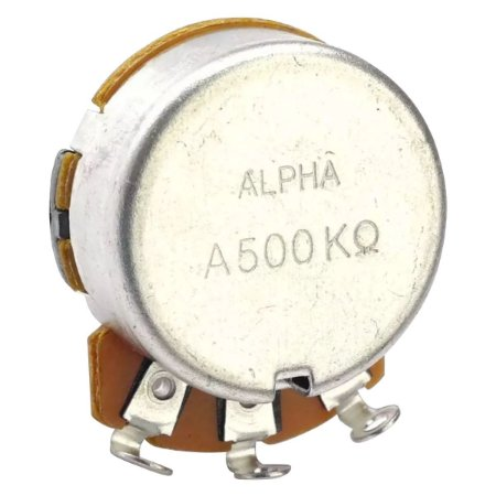 Potenciômetro Base Pequena Eixo Curto A500K Alpha