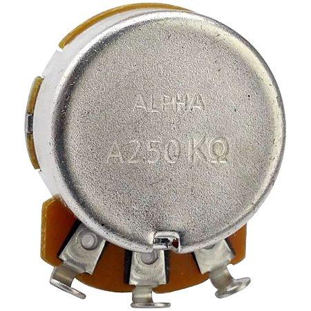Potenciômetro Base Pequena Eixo Curto A250K Alpha