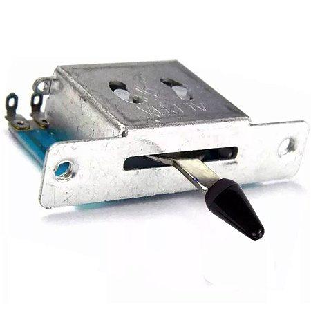 Chave Seletora 5 Posições Para Telecaster Ou Stratocaster Alpha Knob Preto
