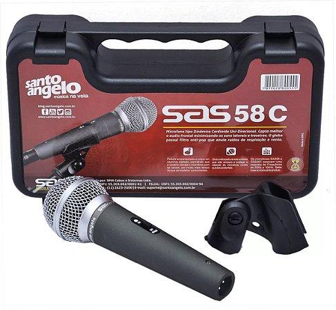 Microfone Cardióide Com Chave Sas58c Santo Angelo