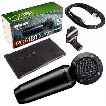 Microfone Shure Condensador Com Captação Lateral Pga181