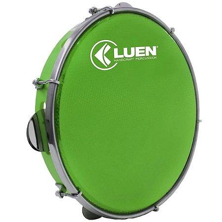 "Pandeiro Luen 10"" ABS Pele Holográfica Verde"