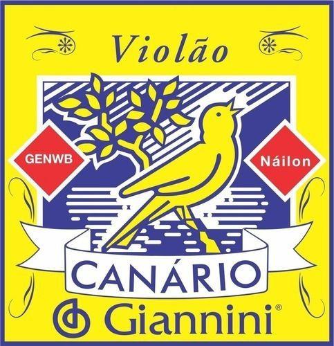Jogo De Cordas Para Violão Nylon Giannini Canario