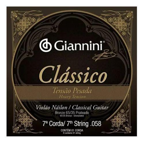 Sétima Corda Avulsa Para Violão Nylon 7 cordas Giannini (SI)