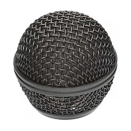 Globo Preto Cromo P/ Microfone Universal Santo Angelo SAS58
