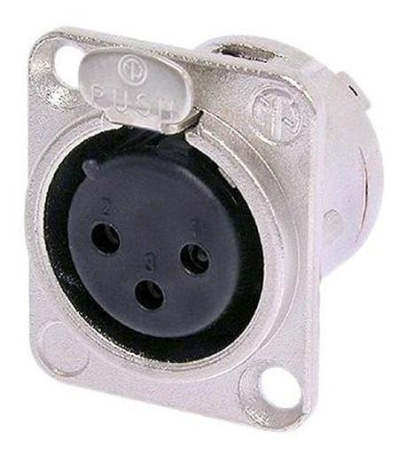 Plug Conector Painel Fêmea XLR Canon Santo Angelo SA2X