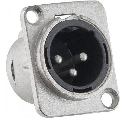 Plug Conector Painel Macho XLR Canon Santo Angelo SA2X