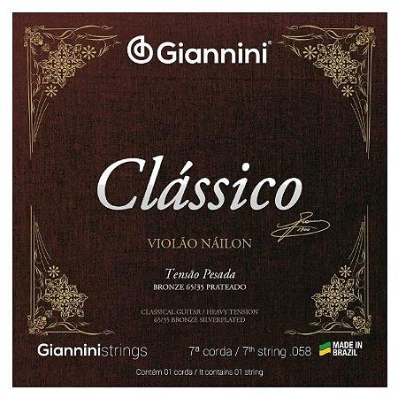 Sétima Corda Avulsa Para Violão Nylon Giannini Classico (Si)