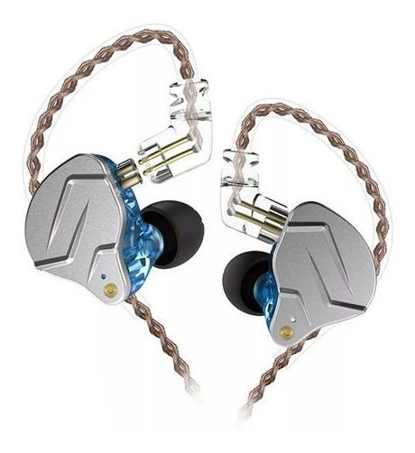 Fone De Ouvido In Ear Dual Driver KZ ZNS Pro Azul