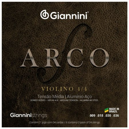 Jogo De Cordas Para Violino 4/4 Giannini Serie Arco