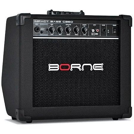 Amplificador Para Contra Baixo Borne Impact Bass CB60 20w