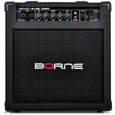 Amplificador Para Contra Baixo Borne Impact Bass CB80 30w