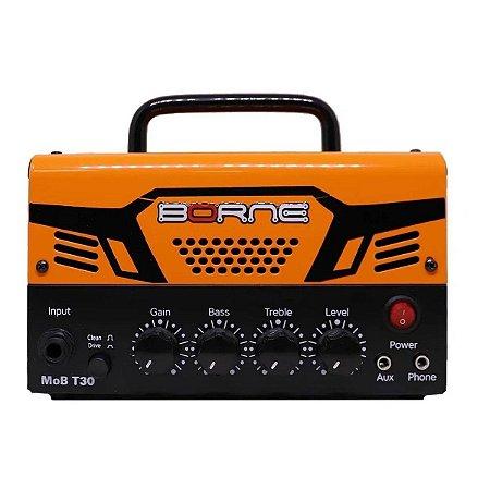 Mini Amplificador Para Guitarra Borne Mob T30 Laranja 30w