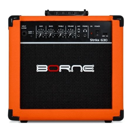 Amplificador Para Guitarra Borne Strike G30 Laranja 15w
