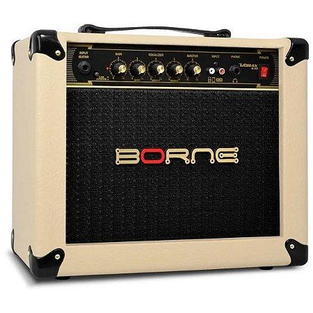 Amplificador Para Guitarra Borne Vorax 630 Creme 25w
