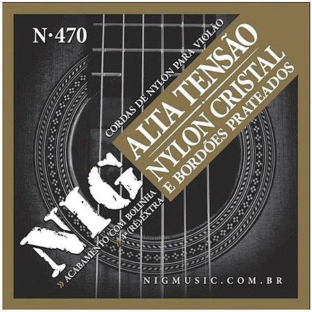 Jogo De Cordas Violão Nylon Tensão Alta Nig N-470