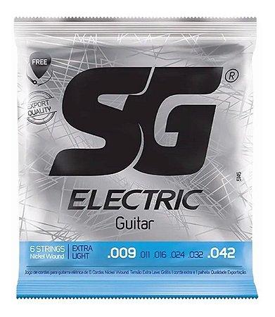 Jogo De Cordas Para Guitarra SG 009 Nickel Wound