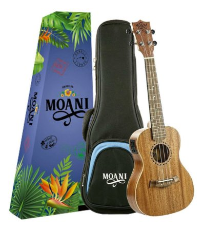 Ukulele Moani Concert Eletrico UKMHE01-23 Com Bag