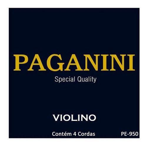 Jogo De Cordas Para Violino Special Quality Paganini Pe950