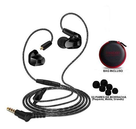 Fone De Ouvido Moxpad Dual Driver In Ear X9 Preto