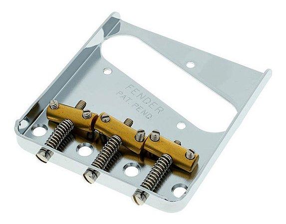 Ponte Para Guitarra Telecaster Vintage Fender Chrome