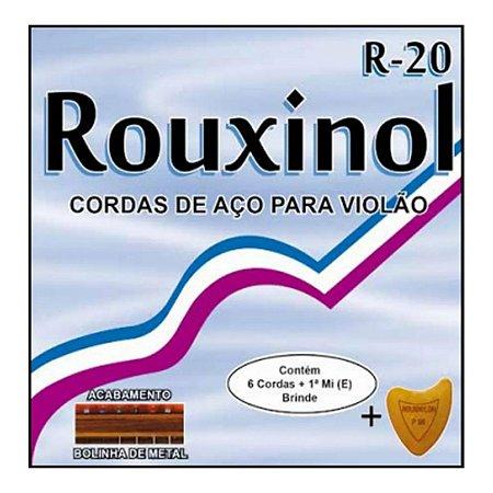 Jogo De Cordas Para Violão Aço Rouxinol 011 Com Bolinha R20