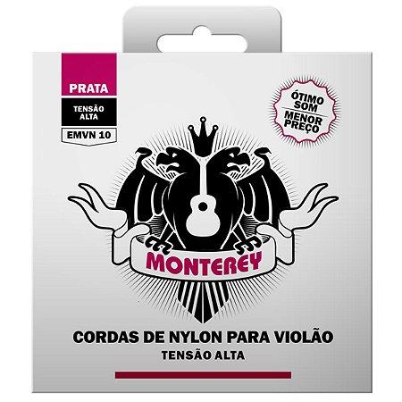 Jogo De Cordas Para Violão Nylon Tensão Alta Monterey