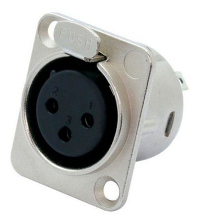 Plug Conector Com Trava Painel Fêmea XLR Canon Star Cable