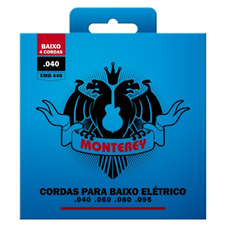 Encordoamento Para Baixo 4 Cordas 040 Monterey By Solez