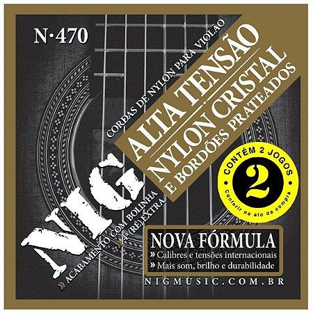 Kit Econômico Com 02 Jogos De Cordas Nig Violão Nylon N-470