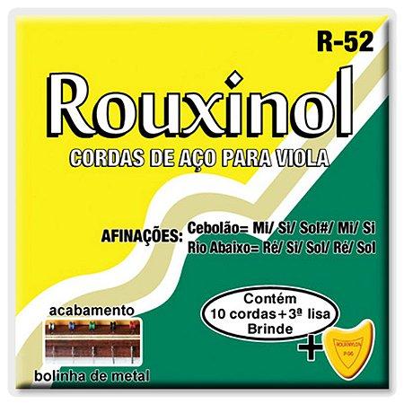 Jogo De Cordas Para Viola Caipira Rouxinol Com Bolinha R52