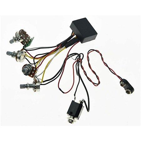 Circuito Ativo Baixo 2 Bandas 4 pot. Custom Sound CCB 9010