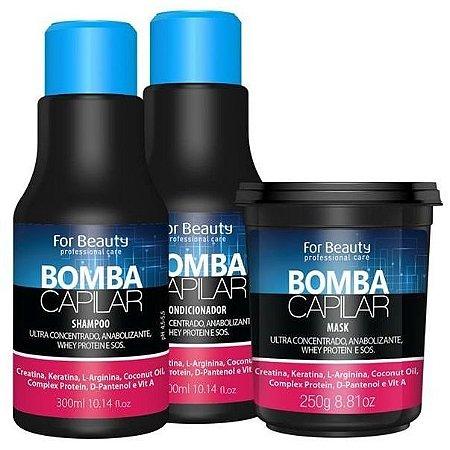 For Beauty Bomba Capilar Kit com Máscara de 250g - 3 itens