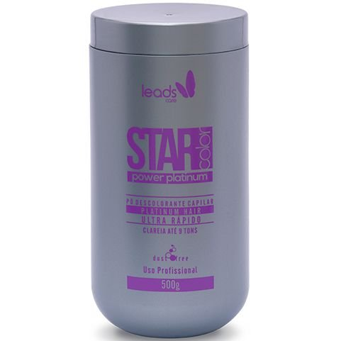 Leads Care Power Platinum Star Color Pó Descolorante 500g