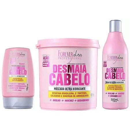 Forever Liss Desmaia Cabelo Kit com Máscara de 950g (3 itens)
