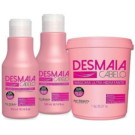 For Beauty Desmaia Cabelo Kit com Máscara de 1kg (3 itens)