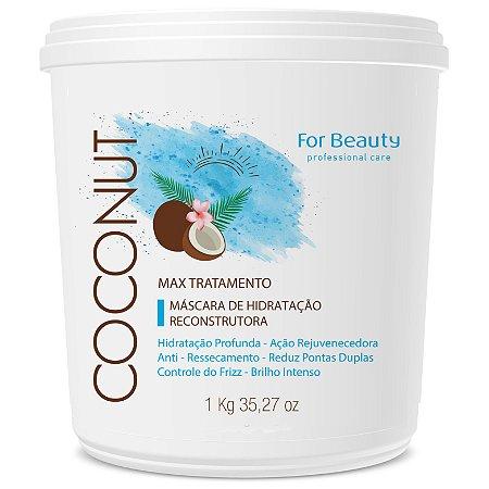 For Beauty Coconut Hidratação Reconstrutora Máscara 1kg