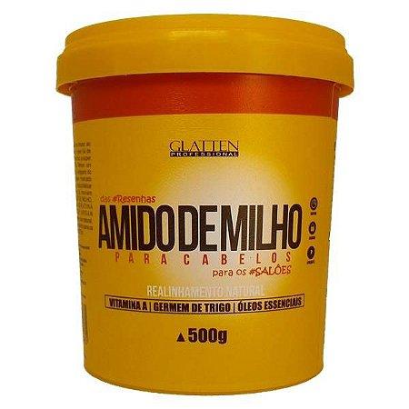 Glatten Amido de Milho para Cabelos Realinhamento Natural 500g