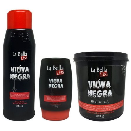 La Bella Liss Viúva Negra Efeito Teia Kit com Máscara 950g (3 itens)