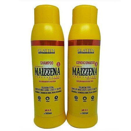 Glatten Maizzena para Cabelo Shampoo e Condicionador (2x500ml)