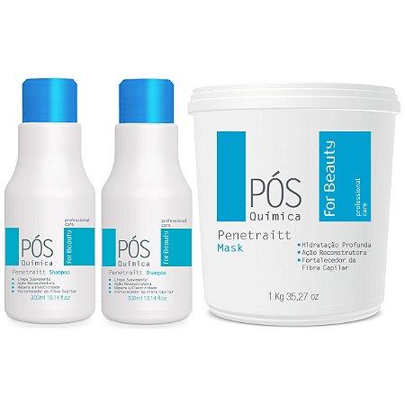 For Beauty Pós Química Penetraitt Kit com Máscara 1kg (3 itens)