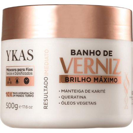 Ykas Banho de Verniz Brilho Máximo Máscara 500g