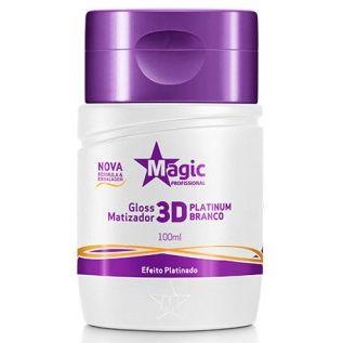 Magic Color Gloss Matizador 3D Platinum Branco - Efeito Platinado - 100ml