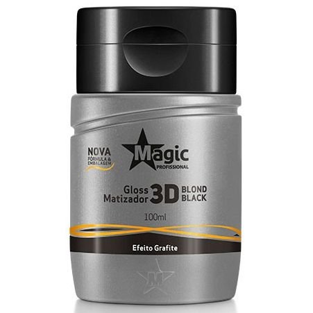 Magic Color Gloss Matizador 3D Blond Black - Efeito Grafite - 100ml