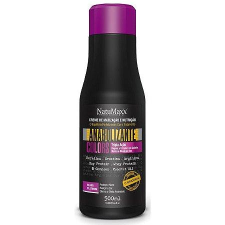 NatuMaxx Creme de Matização Anabolizante Colors Blond Platinum 500ml