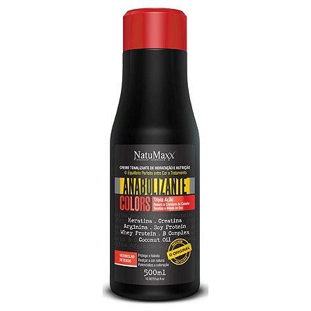 NatuMaxx Creme de Matização Anabolizante Colors Vermelho Intenso 500ml