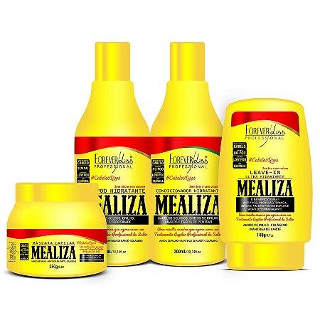 Forever Liss Maizena Capilar MeAliza Kit com Máscara 250g (4 itens)